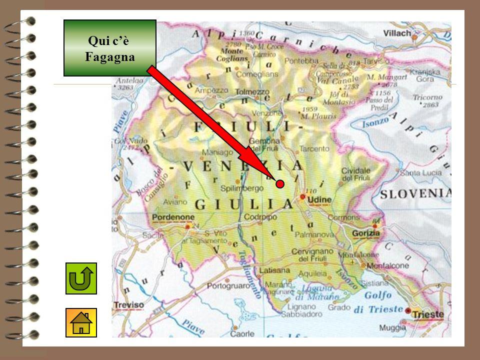 Qui c'è Fagagna Mappa del Friuli