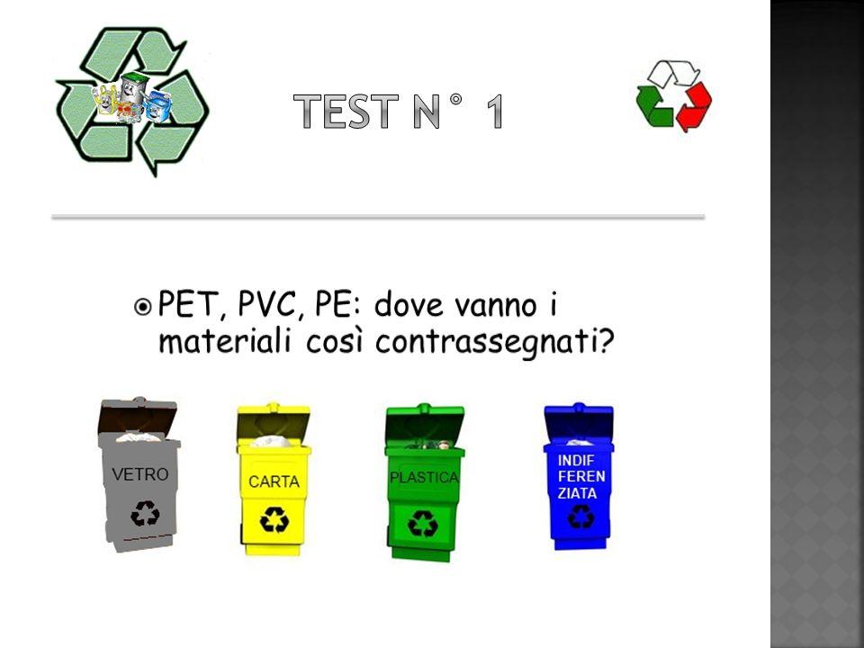 Test n° 1 PET, PVC, PE: dove vanno i materiali così contrassegnati