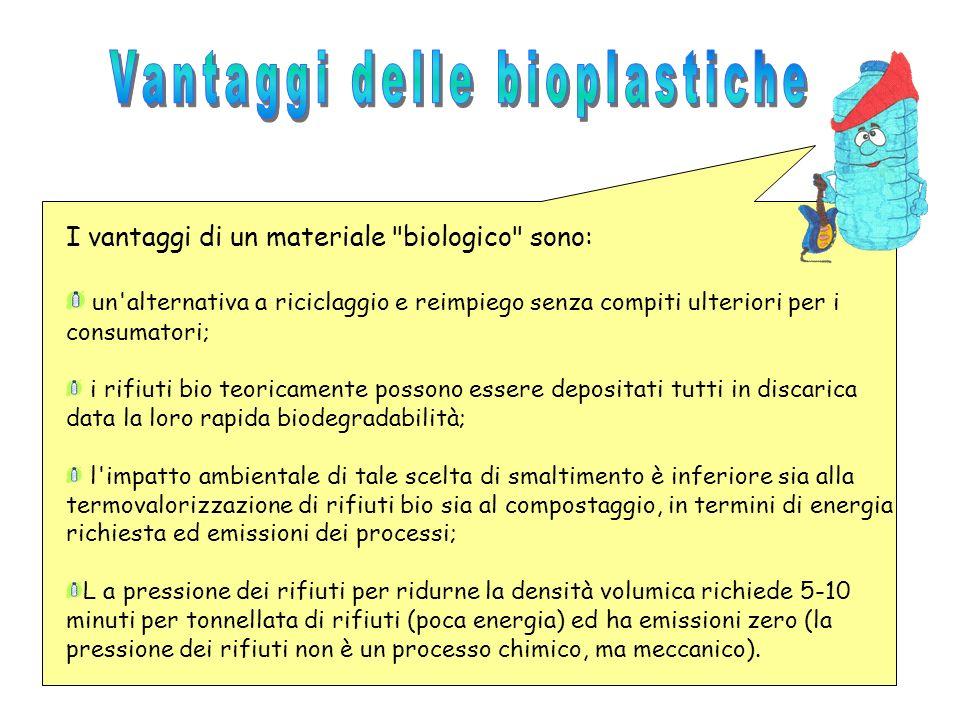 Vantaggi delle bioplastiche