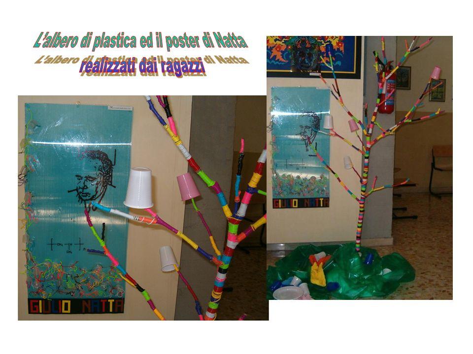 L'albero di plastica ed il poster di Natta realizzati dai ragazzi