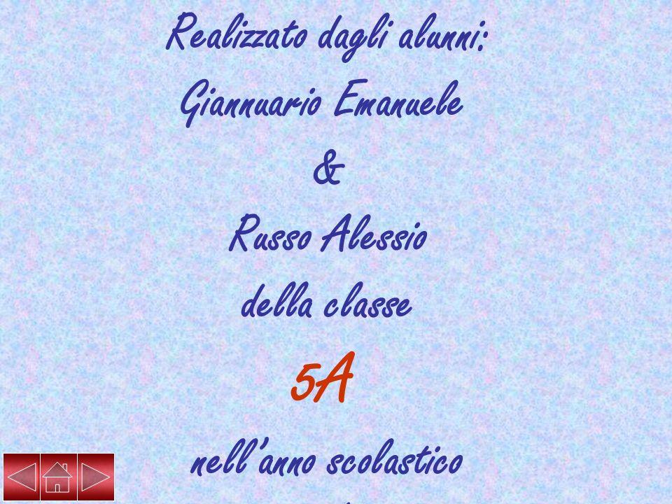 Realizzato dagli alunni: Galantini Maria Rosaria