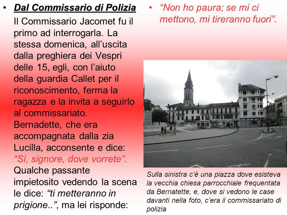Dal Commissario di Polizia
