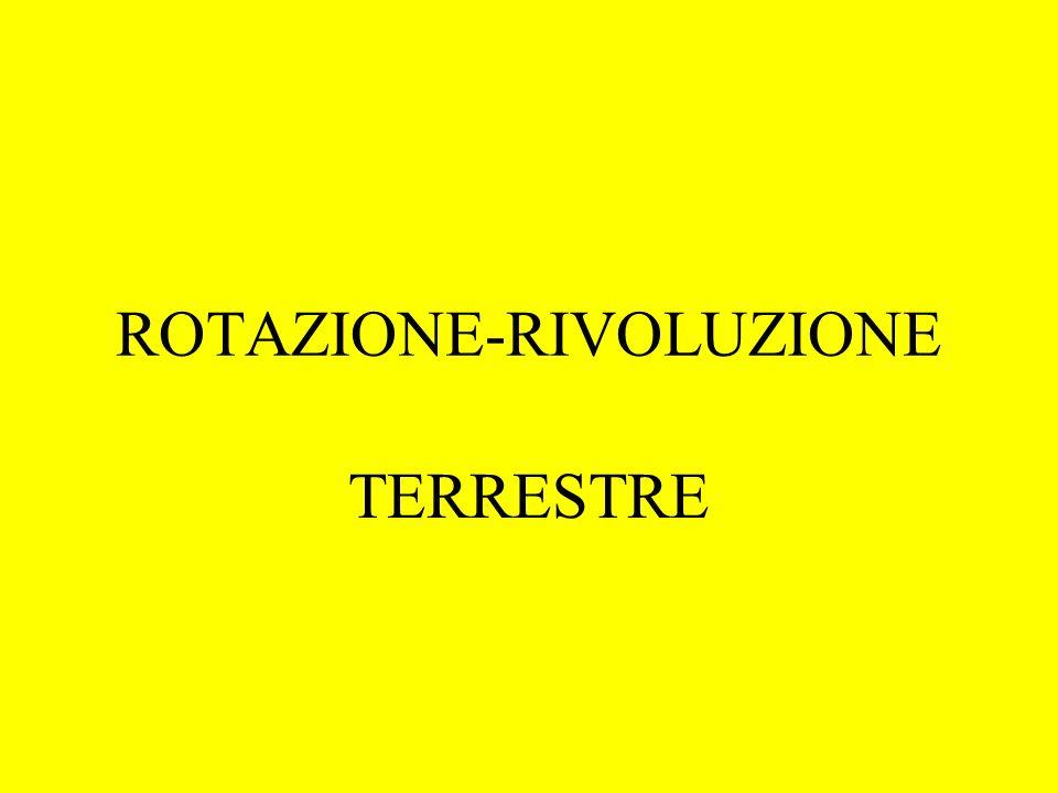 ROTAZIONE-RIVOLUZIONE