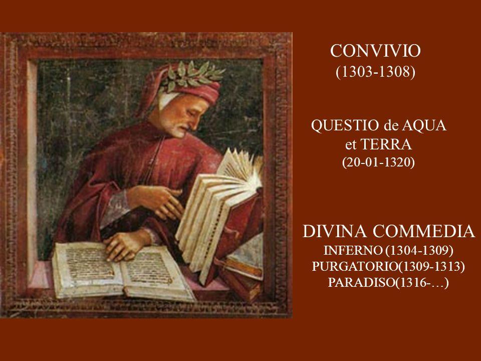 CONVIVIO DIVINA COMMEDIA (1303-1308) QUESTIO de AQUA et TERRA