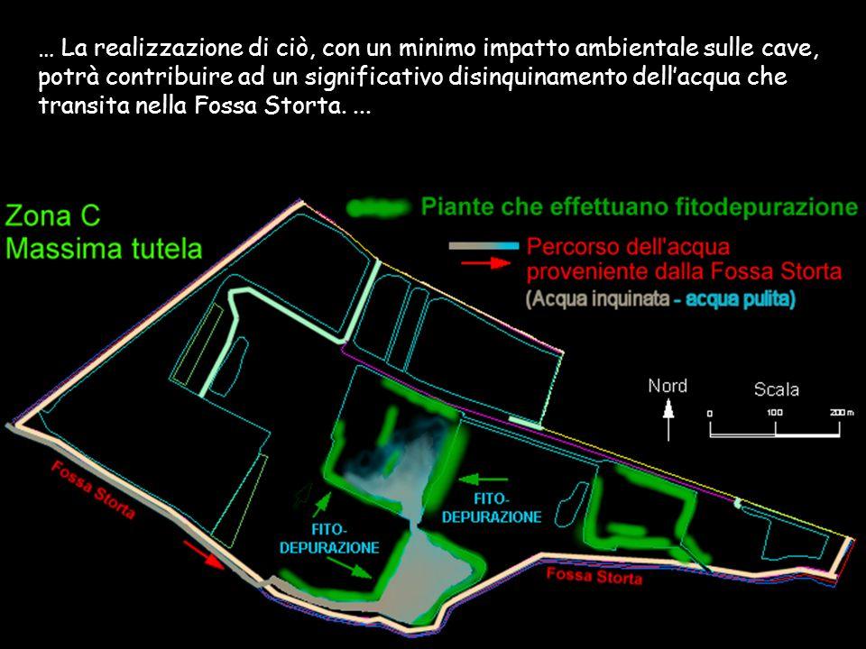 … La realizzazione di ciò, con un minimo impatto ambientale sulle cave, potrà contribuire ad un significativo disinquinamento dell'acqua che transita nella Fossa Storta.