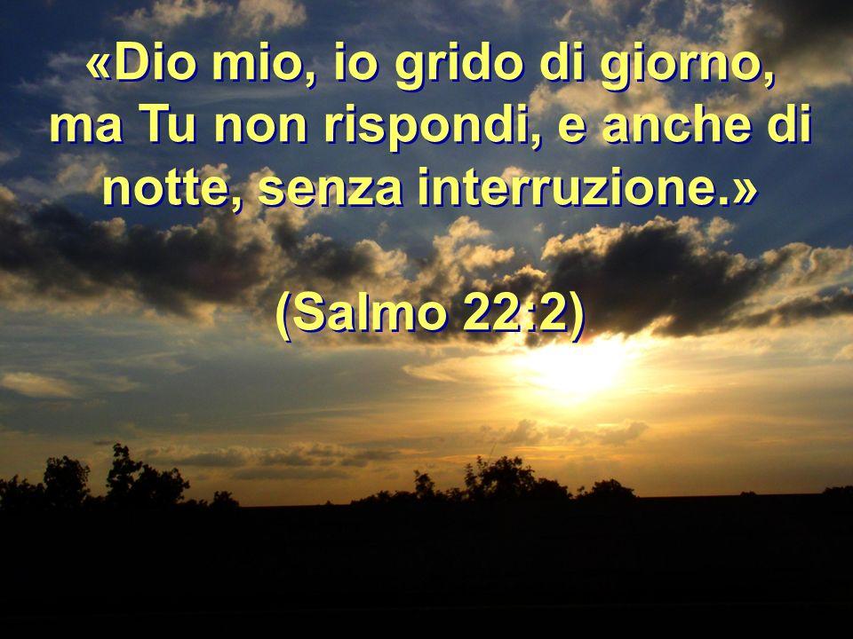 «Dio mio, io grido di giorno, ma Tu non rispondi, e anche di notte, senza interruzione.»