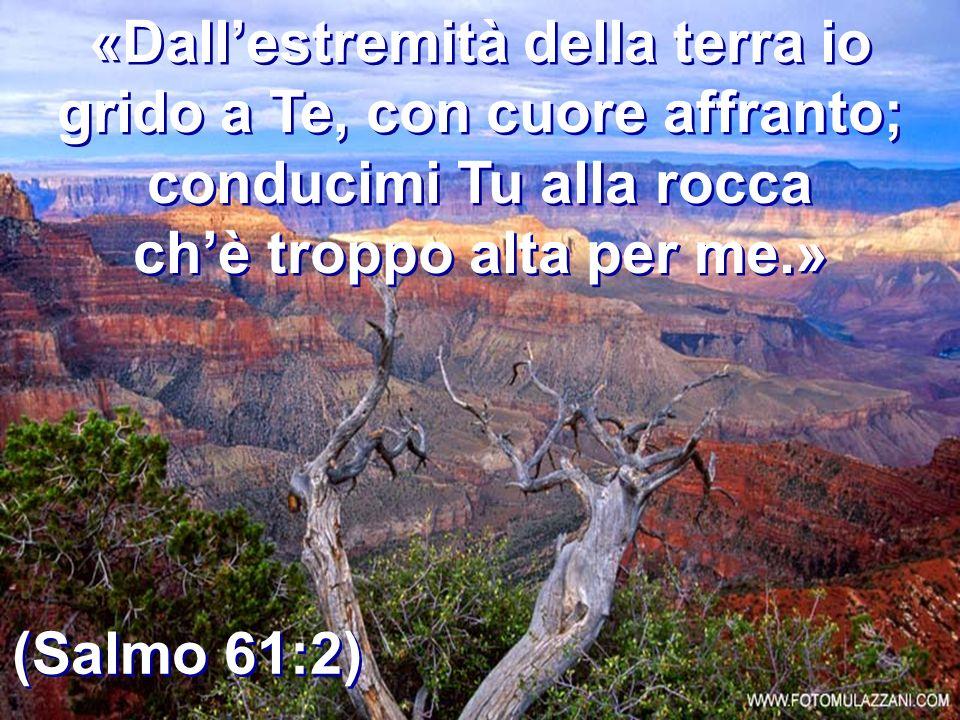«Dall'estremità della terra io grido a Te, con cuore affranto;
