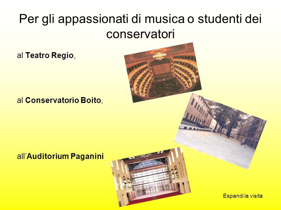 Per gli appassionati di musica o studenti dei conservatori