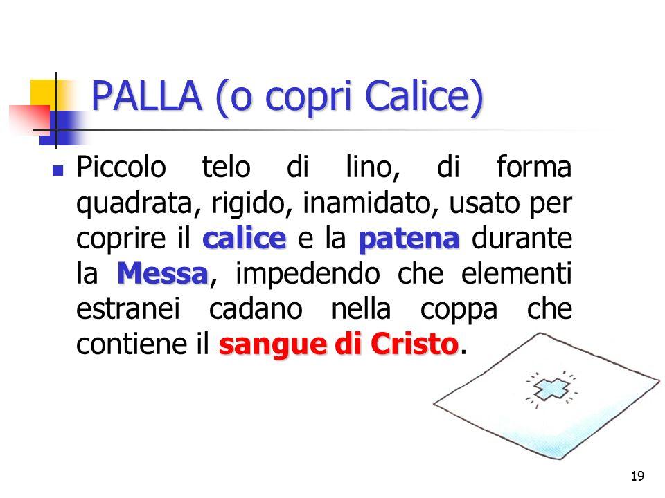 PALLA (o copri Calice)