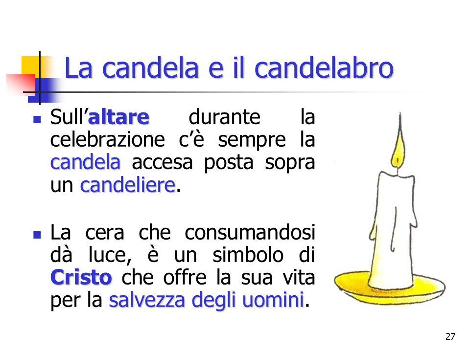La candela e il candelabro