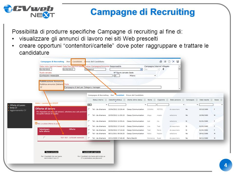 Campagne di Recruiting