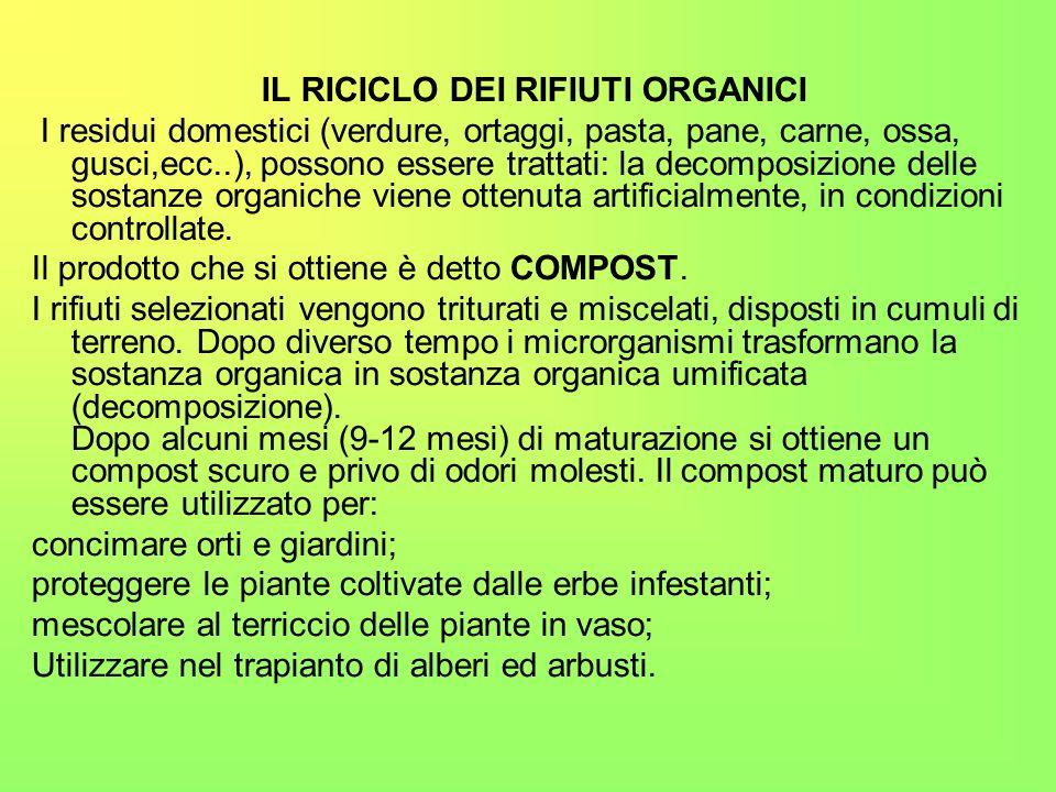 IL RICICLO DEI RIFIUTI ORGANICI