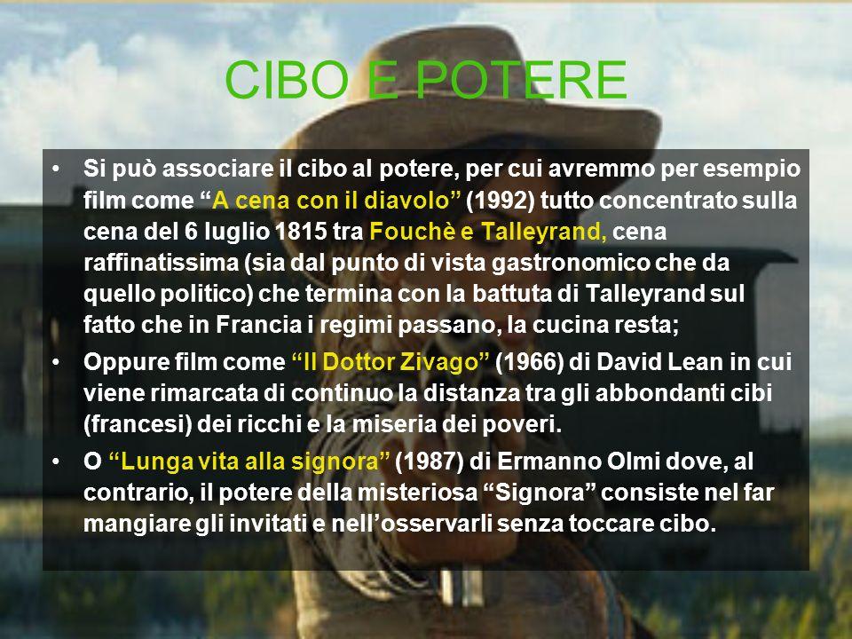 CIBO E POTERE