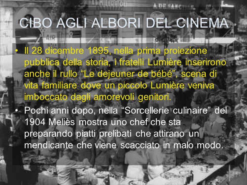CIBO AGLI ALBORI DEL CINEMA