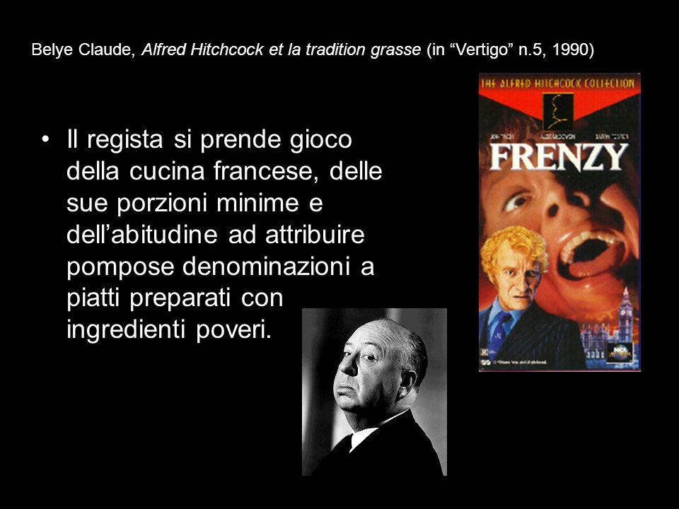 Belye Claude, Alfred Hitchcock et la tradition grasse (in Vertigo n