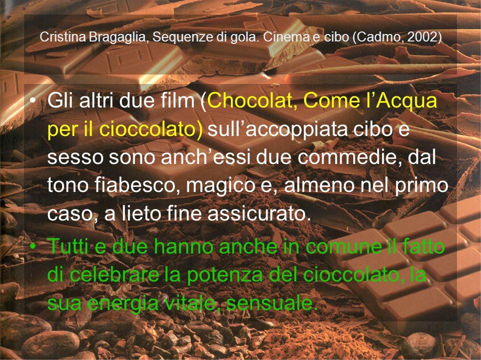 Cristina Bragaglia, Sequenze di gola. Cinema e cibo (Cadmo, 2002)