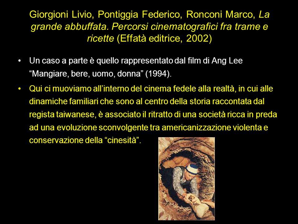 Giorgioni Livio, Pontiggia Federico, Ronconi Marco, La grande abbuffata. Percorsi cinematografici fra trame e ricette (Effatà editrice, 2002)