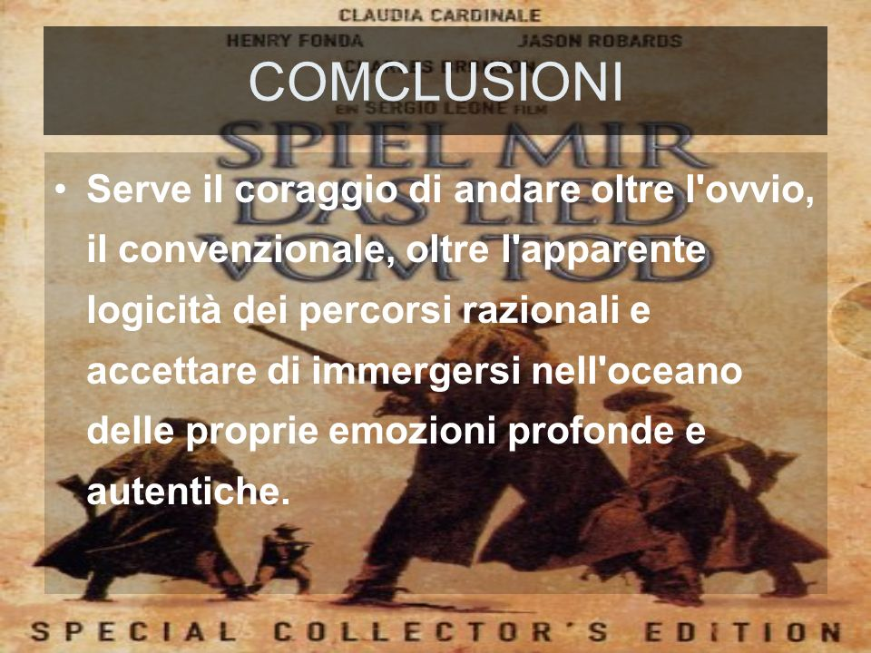 COMCLUSIONI
