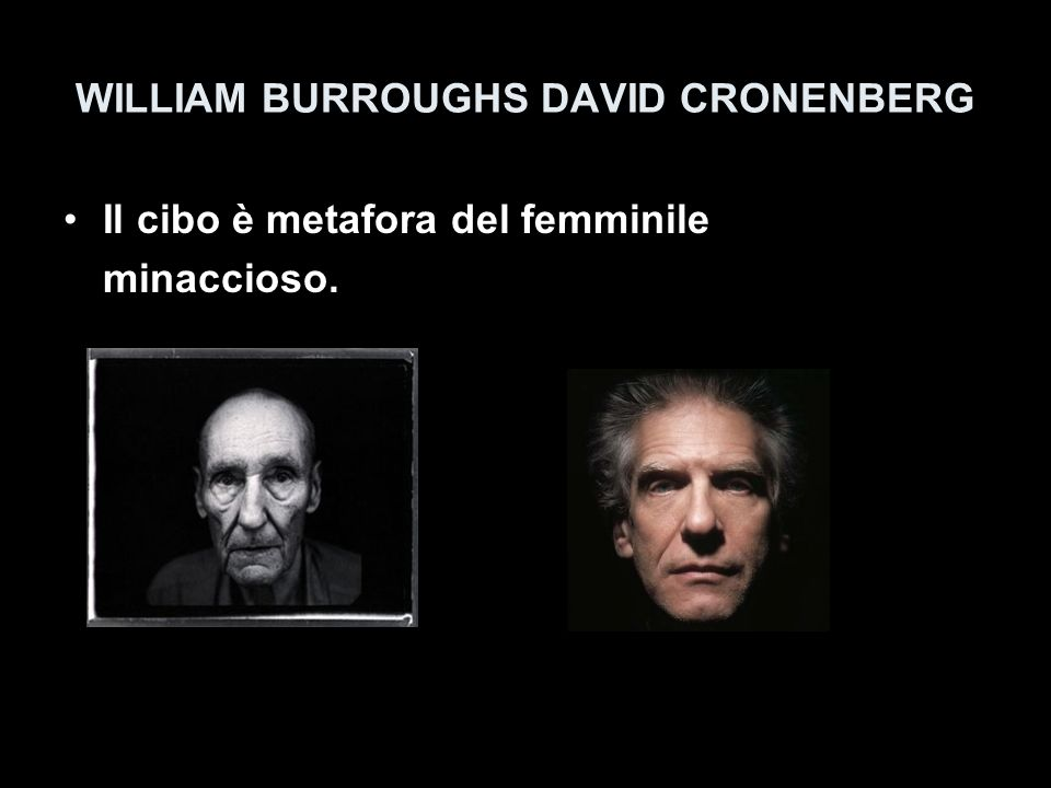 WILLIAM BURROUGHS DAVID CRONENBERG