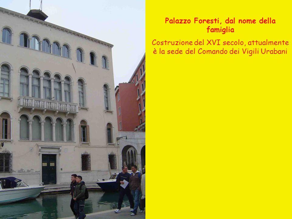 Palazzo Foresti, dal nome della famiglia