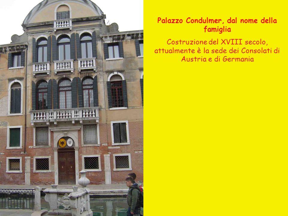 Palazzo Condulmer, dal nome della famiglia