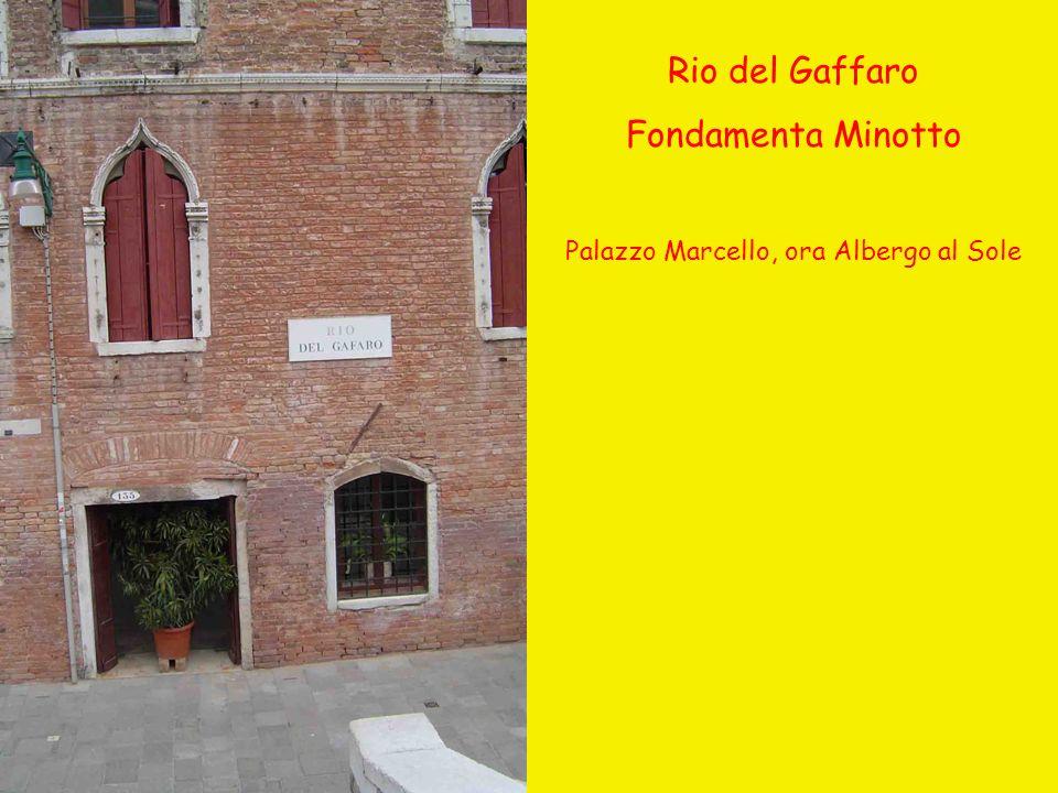 Palazzo Marcello, ora Albergo al Sole