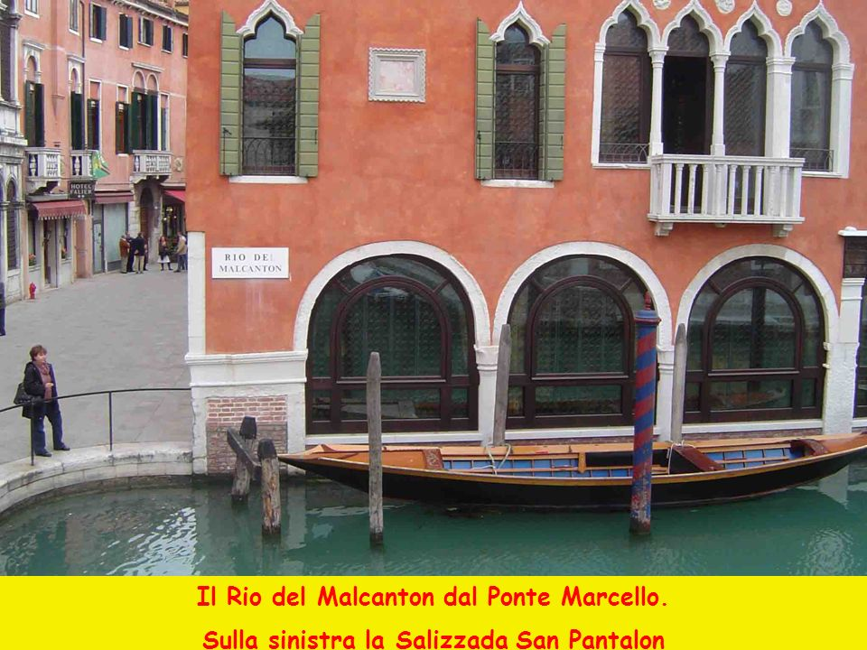 Il Rio del Malcanton dal Ponte Marcello.