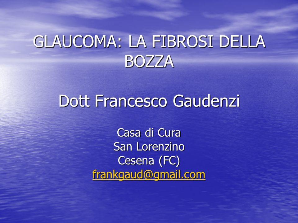 GLAUCOMA: LA FIBROSI DELLA BOZZA Dott Francesco Gaudenzi