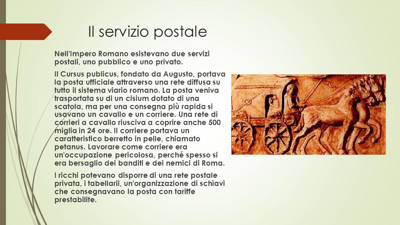Il servizio postale