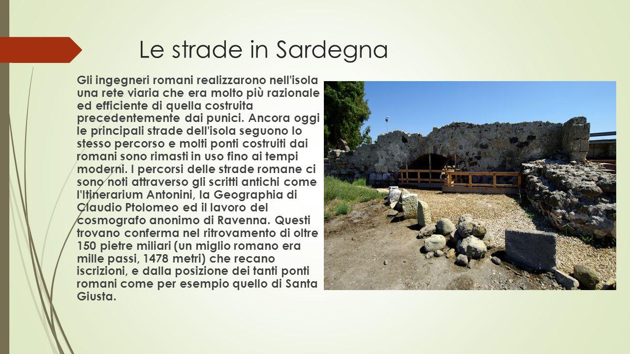 Le strade in Sardegna