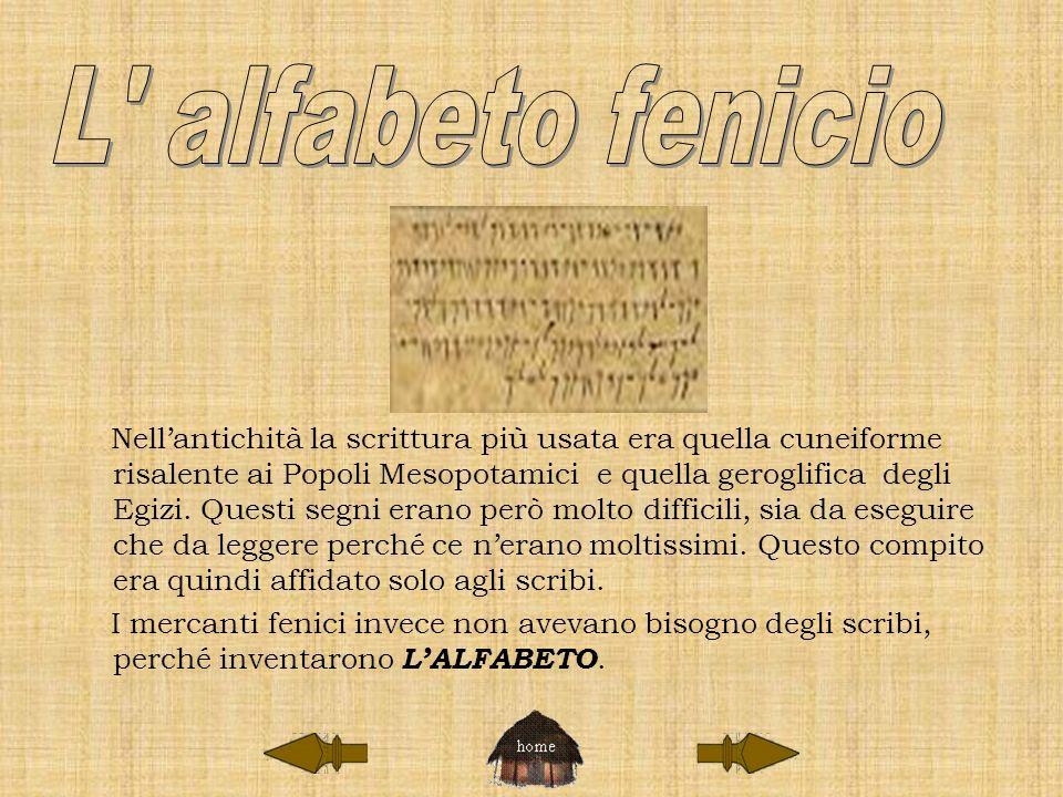 L alfabeto fenicio