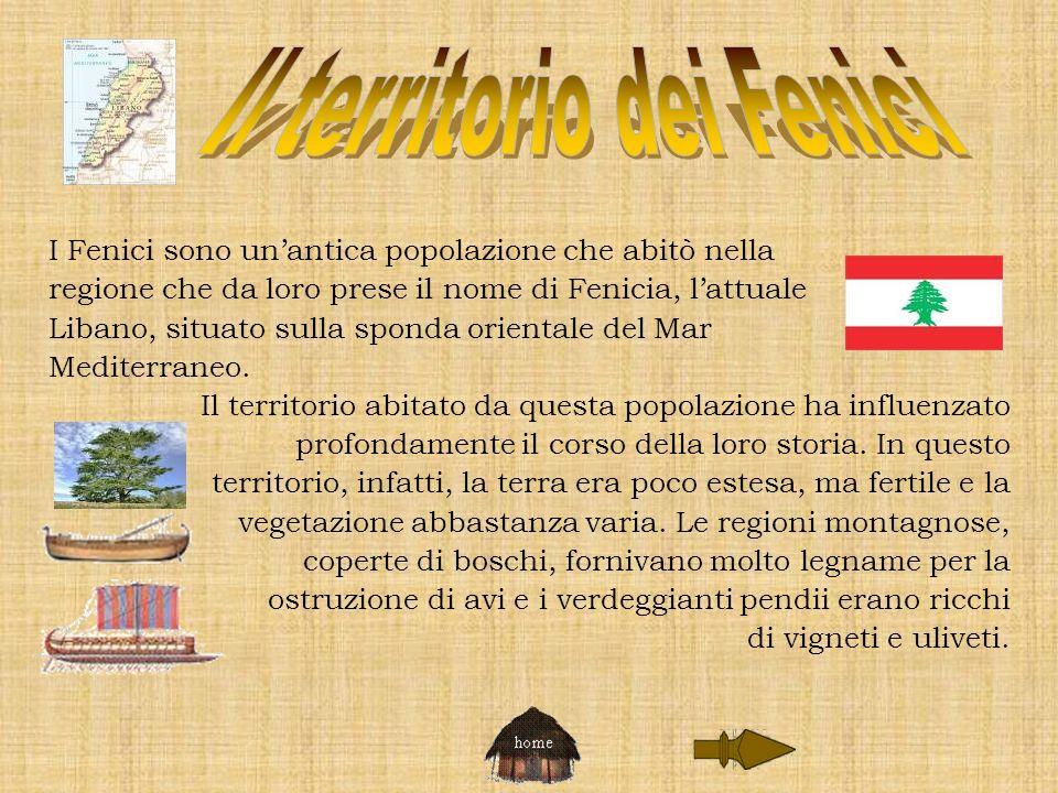 Il territorio dei Fenici