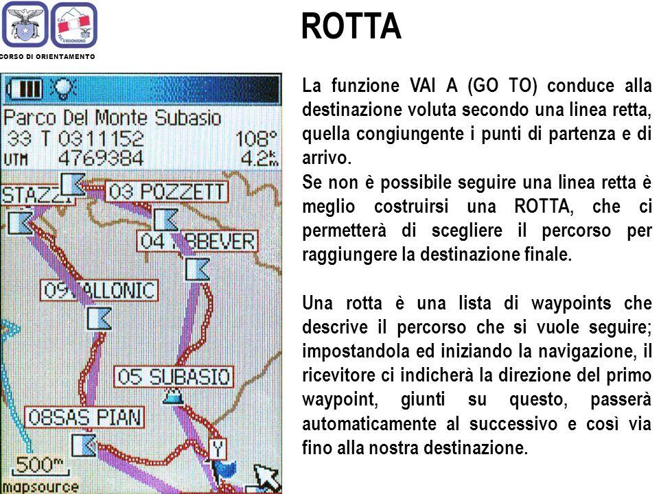 ROTTA CORSO DI ORIENTAMENTO.