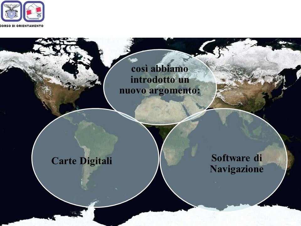 così abbiamo introdotto un nuovo argomento: Software di Navigazione