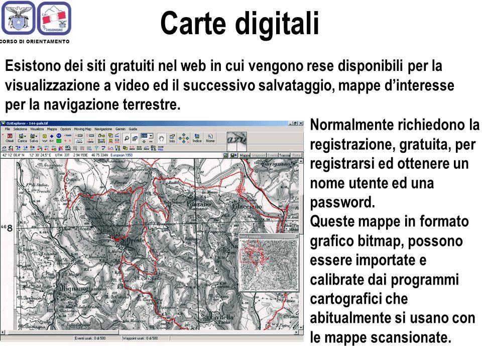 Carte digitali CORSO DI ORIENTAMENTO.