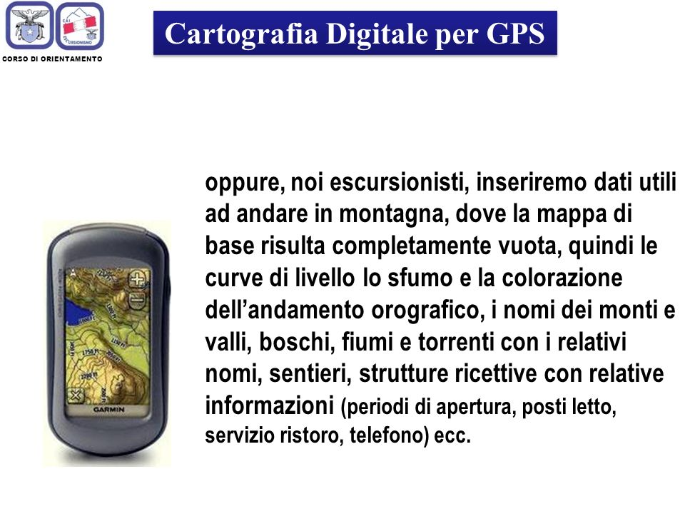 Cartografia Digitale per GPS