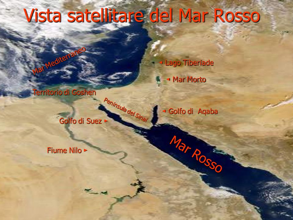 Vista satellitare del Mar Rosso