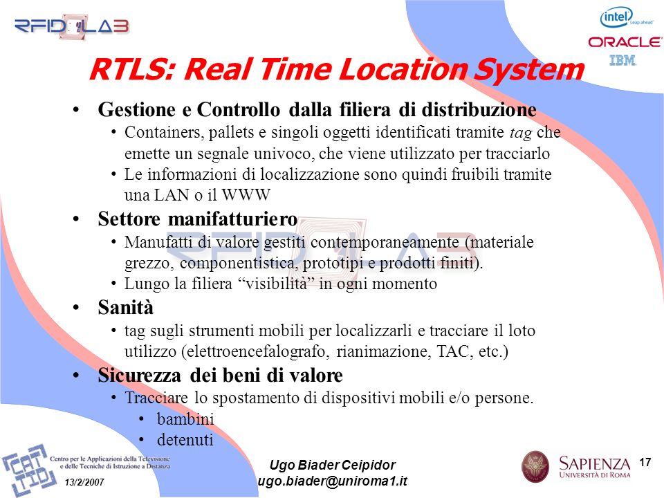 RTLS: Real Time Location System