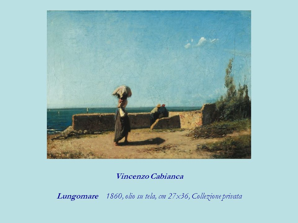 Lungomare 1860, olio su tela, cm 27x36, Collezione privata