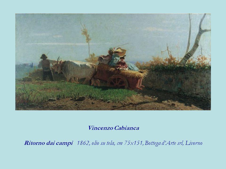 Vincenzo Cabianca Ritorno dai campi 1862, olio su tela, cm 75x151, Bottega d'Arte srl, Livorno