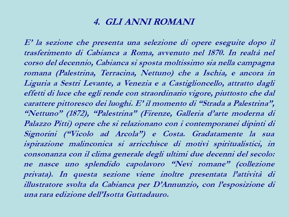 4. GLI ANNI ROMANI