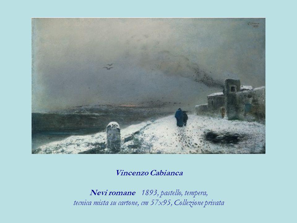 Nevi romane 1893, pastello, tempera,