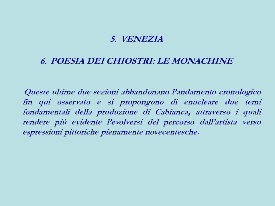 POESIA DEI CHIOSTRI: LE MONACHINE
