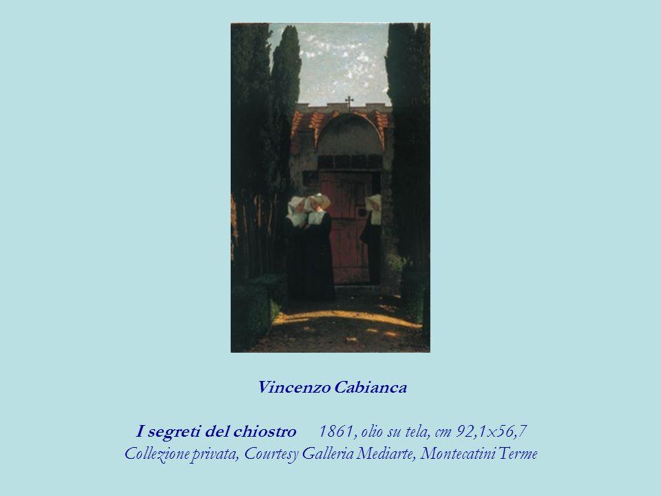 I segreti del chiostro 1861, olio su tela, cm 92,1x56,7
