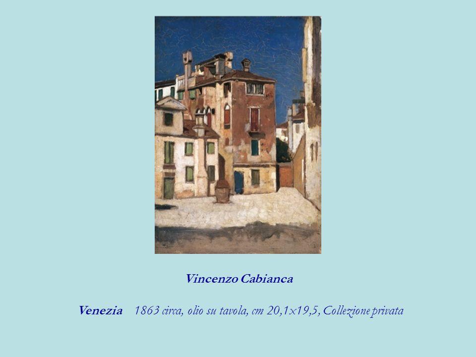 Venezia 1863 circa, olio su tavola, cm 20,1x19,5, Collezione privata