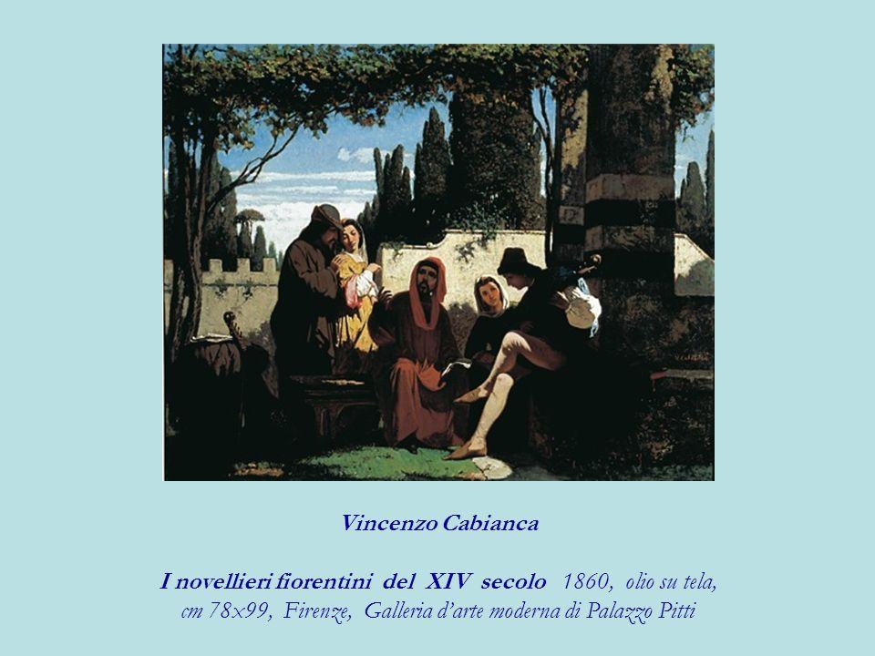 I novellieri fiorentini del XIV secolo 1860, olio su tela,