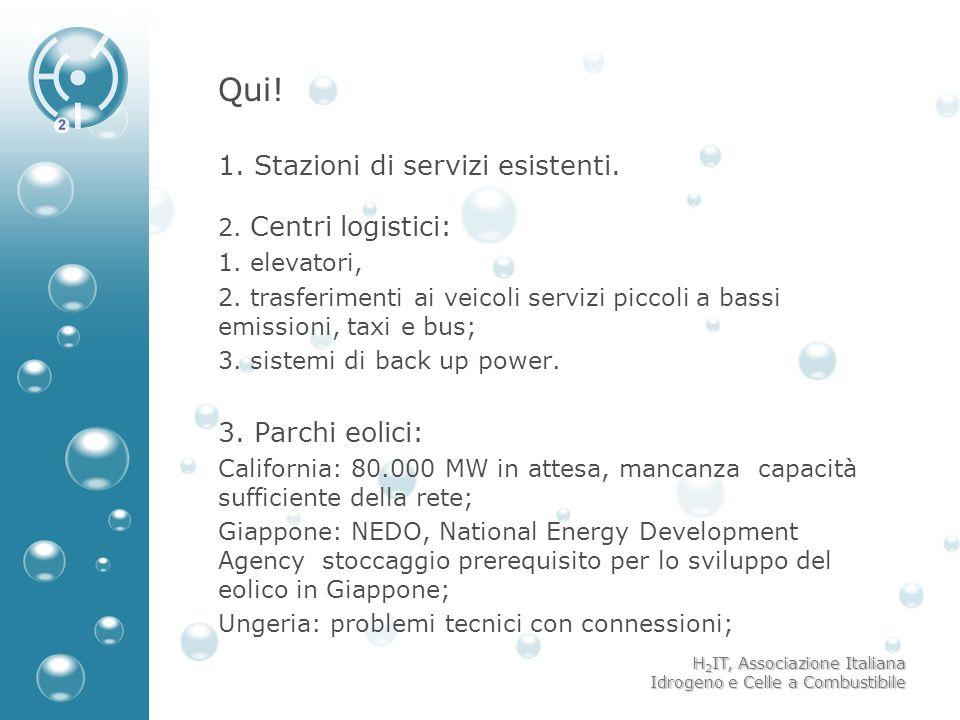 Qui! 1. Stazioni di servizi esistenti. 2. Centri logistici: