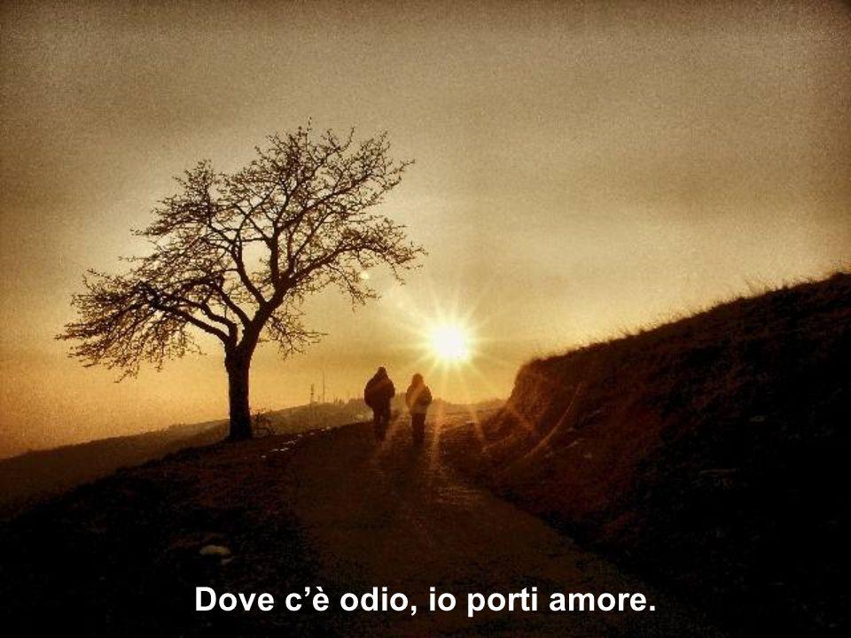 Dove c'è odio, io porti amore.