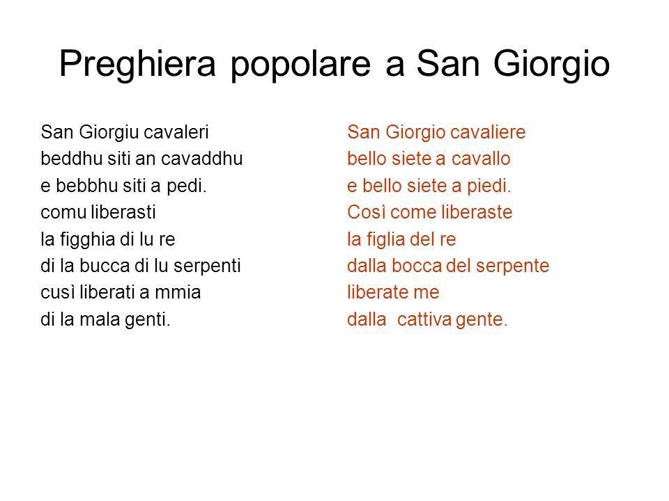 Preghiera popolare a San Giorgio