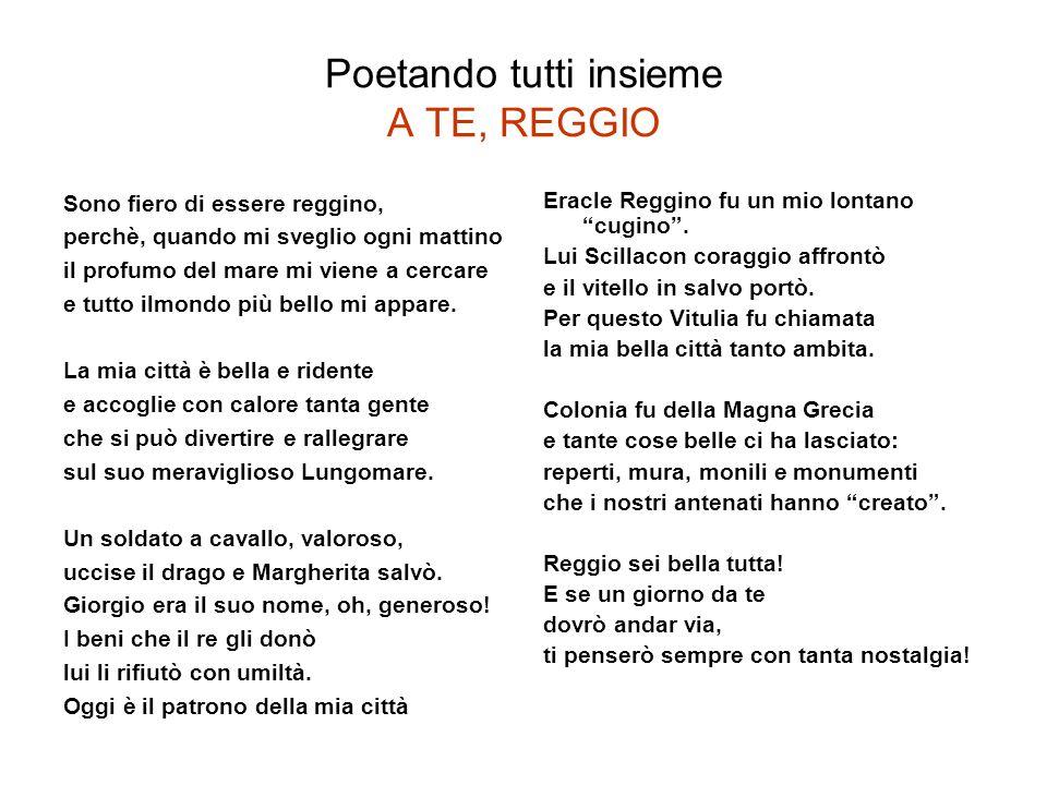 Poetando tutti insieme A TE, REGGIO